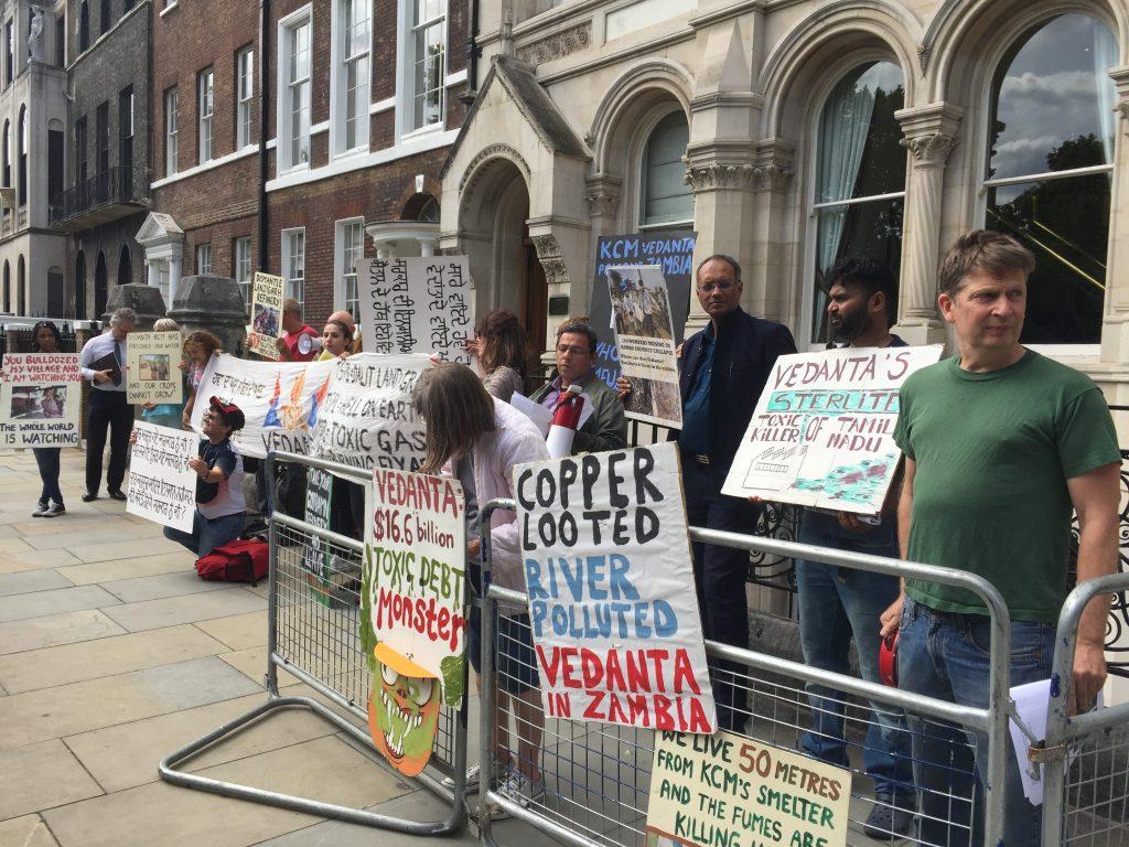 Foil Vedanta protesting the AGM
